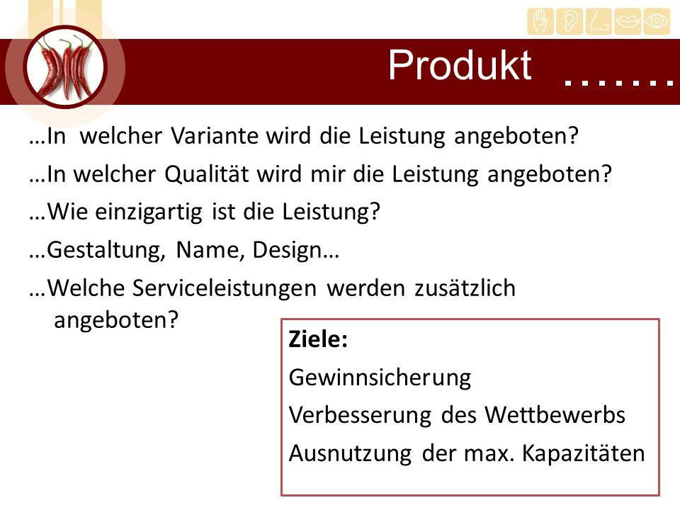 …In welcher Variante wird die Leistung angeboten? …In welcher Qualität wird mir die Leistung angeboten? …Wie einzigartig ist die Leistung? …Gestaltung