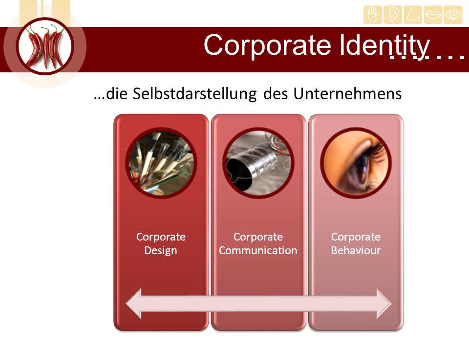 …die Selbstdarstellung des Unternehmens Corporate Identity Corporate Design Corporate Communication Corporate Behaviour