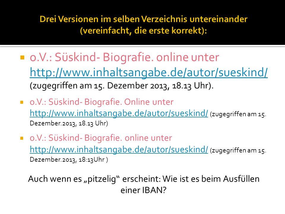 o.V.: Süskind- Biografie.