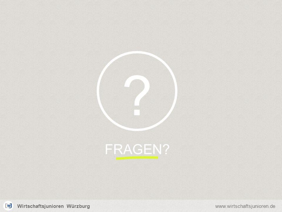 Wirtschaftsjunioren Würzburgwww.wirtschaftsjunioren.de FRAGEN? ?