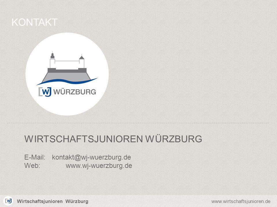 Wirtschaftsjunioren Würzburgwww.wirtschaftsjunioren.de WIRTSCHAFTSJUNIOREN WÜRZBURG E-Mail:kontakt@wj-wuerzburg.de Web:www.wj-wuerzburg.de KONTAKT