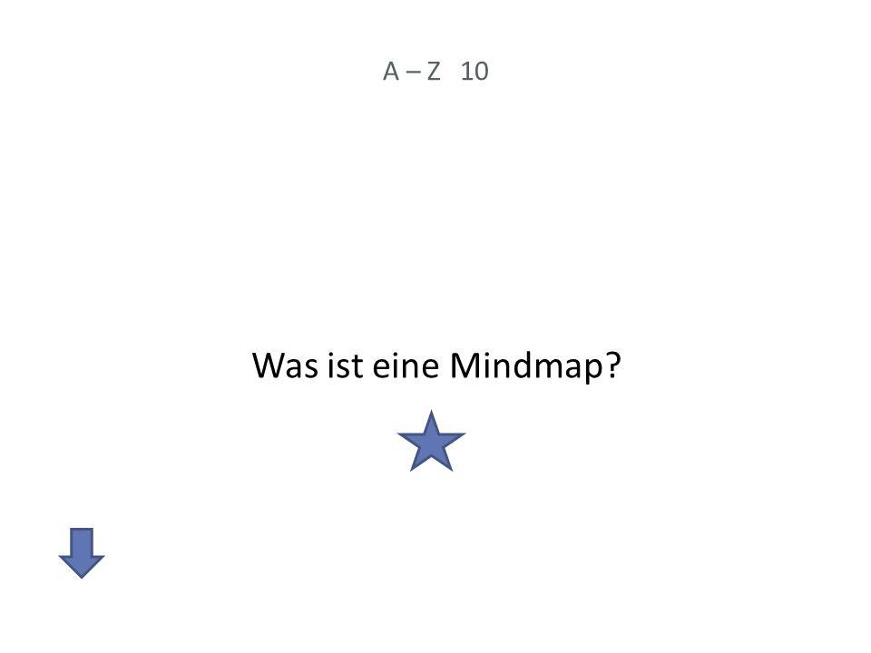 A – Z 10 Was ist eine Mindmap?