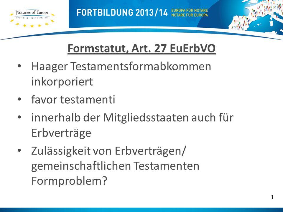 Formstatut, Art.