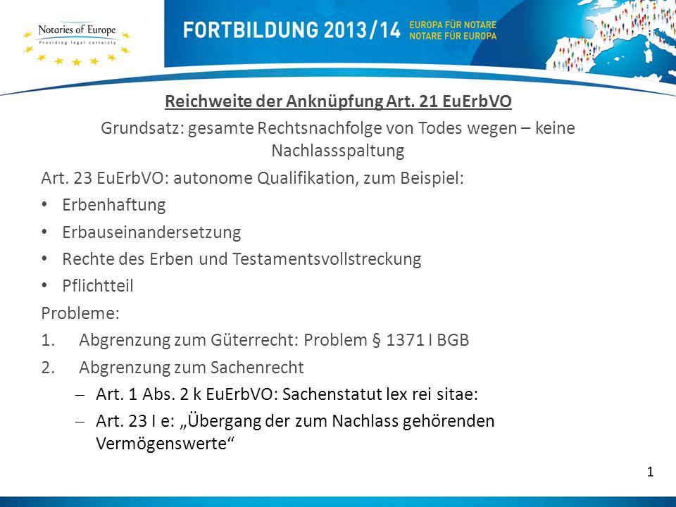 Rück- und Weiterverweisung bei Drittstaatenrecht (Art.