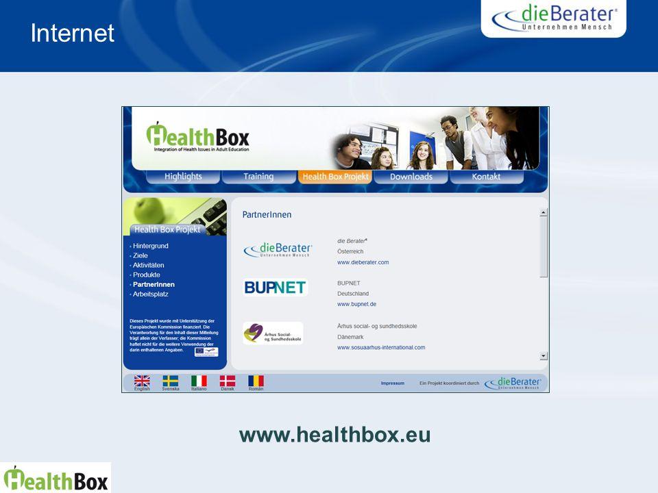Internet www.healthbox.eu