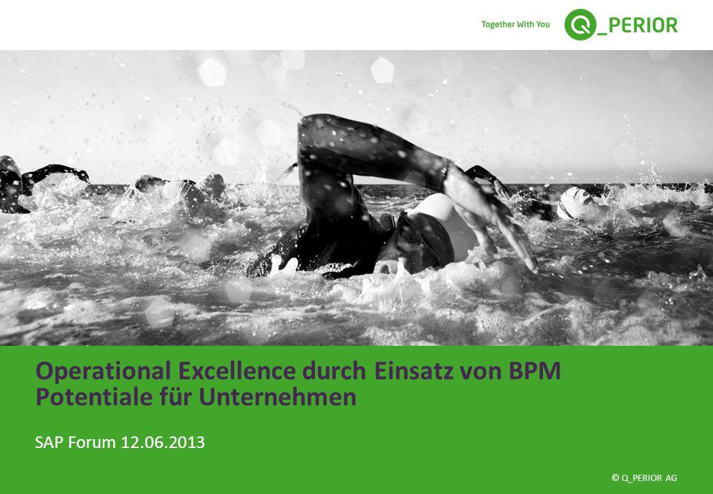 © Q_PERIOR AG Operational Excellence durch Einsatz von BPM Potentiale für Unternehmen SAP Forum 12.06.2013