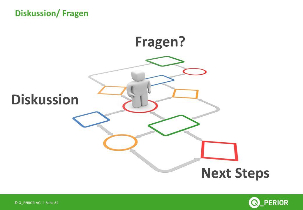 Seite 32 © Q_PERIOR AG | Diskussion/ Fragen Fragen? Diskussion Next Steps