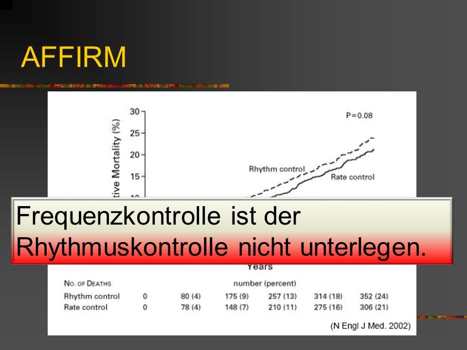 Frequenzkontrolle ist der Rhythmuskontrolle nicht unterlegen.