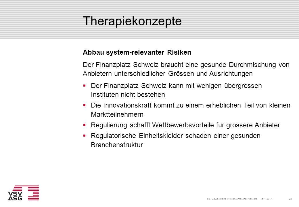 Therapiekonzepte Der Finanzplatz Schweiz kann mit wenigen übergrossen Instituten nicht bestehen Die Innovationskraft kommt zu einem erheblichen Teil v