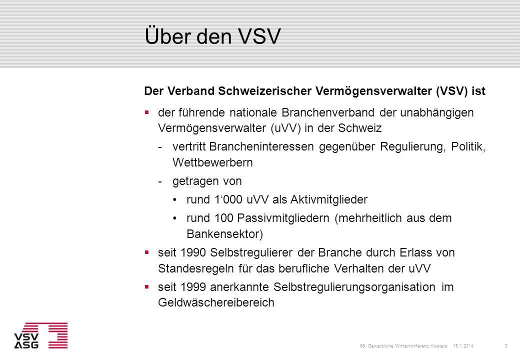 Über den VSV der führende nationale Branchenverband der unabhängigen Vermögensverwalter (uVV) in der Schweiz vertritt Brancheninteressen gegenüber Re