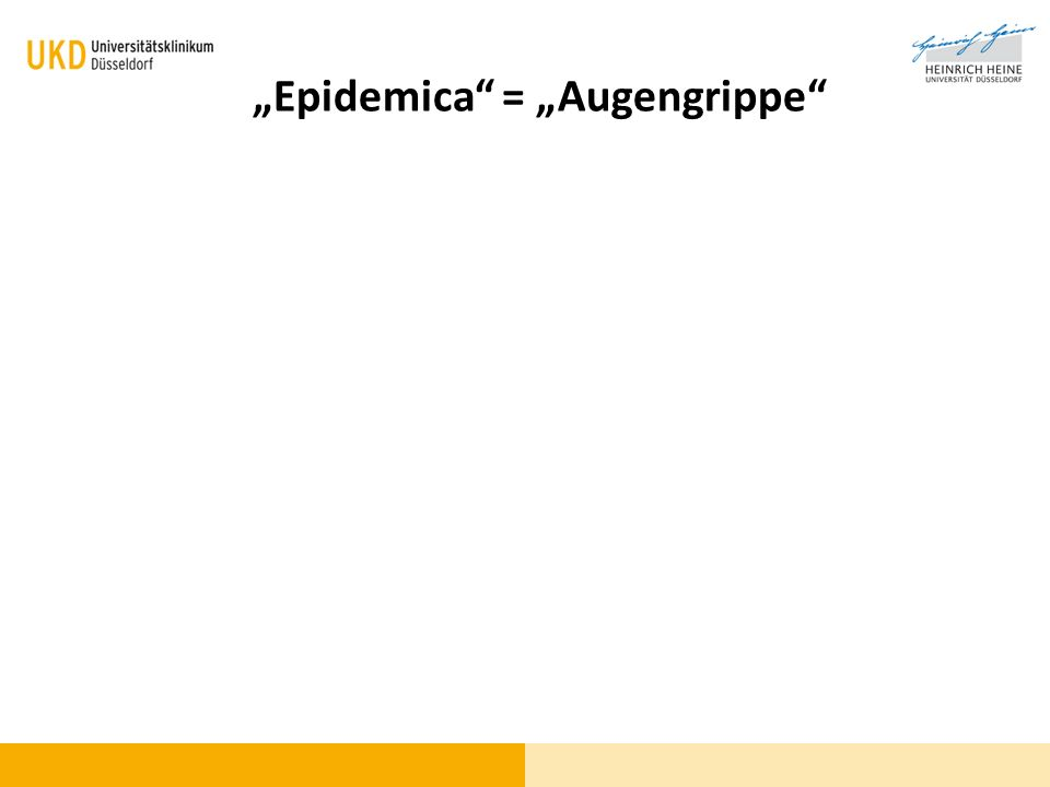 Blickdiagnose Epidemica = Augengrippe