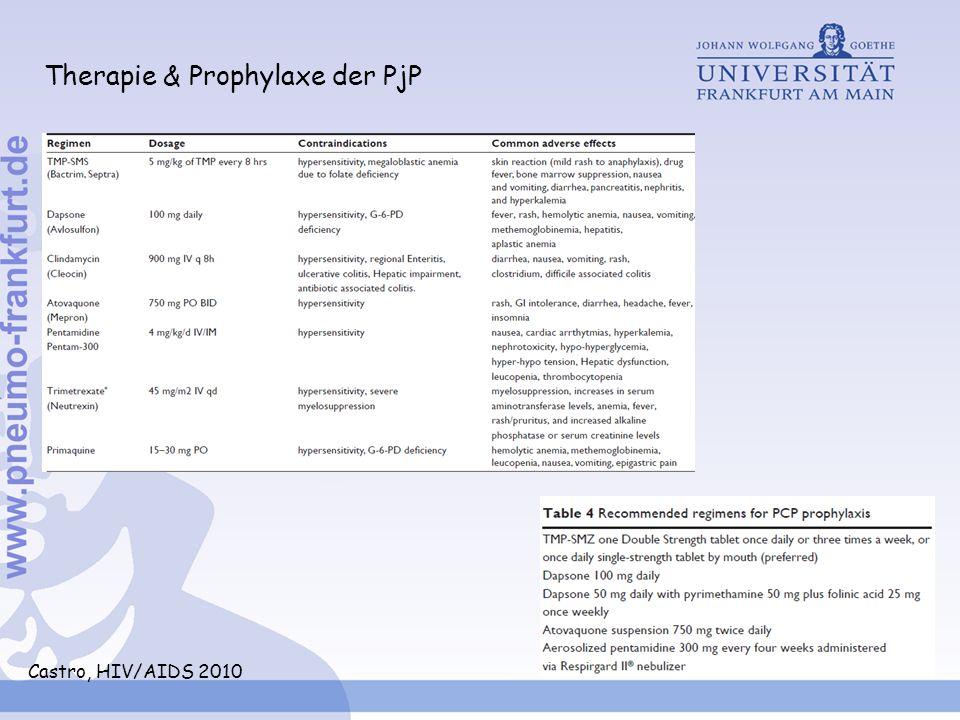 Therapie & Prophylaxe der PjP Castro, HIV/AIDS 2010