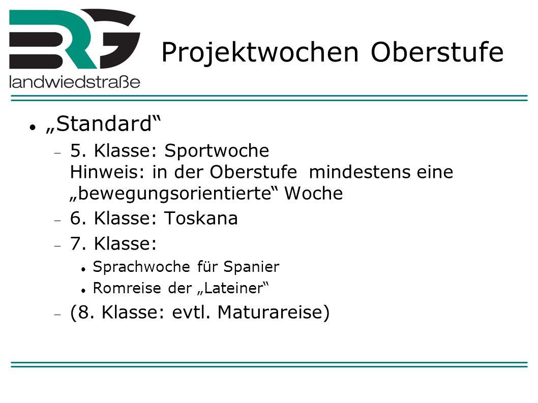 Projektwochen Oberstufe Standard 5.