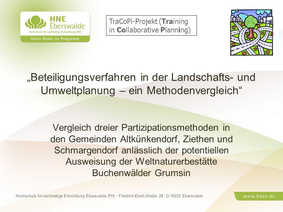 Projektteam Regionale Esskultur Brandenburg · HNE Eberswalde (FH) · Modul Projektplanung und -managementSeite 1 Hochschule für nachhaltige Entwicklung