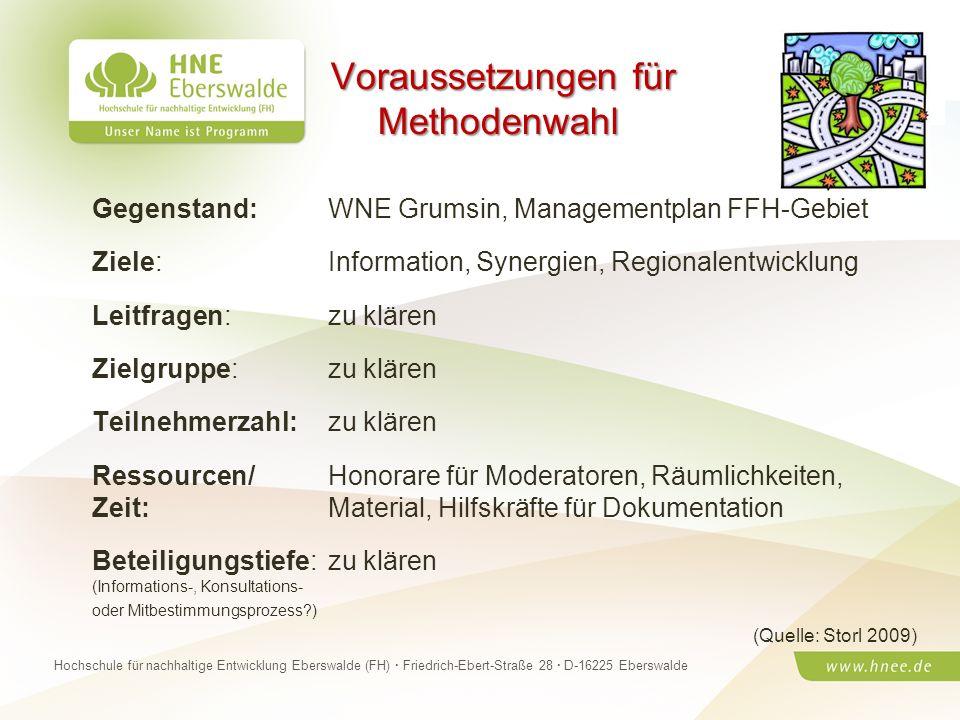 Projektteam Regionale Esskultur Brandenburg · HNE Eberswalde (FH) · Modul Projektplanung und -managementSeite 10 Hochschule für nachhaltige Entwicklun