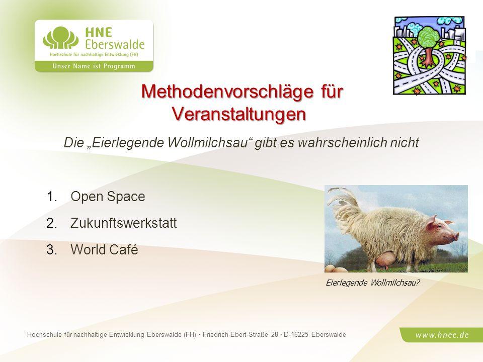 Projektteam Regionale Esskultur Brandenburg · HNE Eberswalde (FH) · Modul Projektplanung und -managementSeite 12 Hochschule für nachhaltige Entwicklun