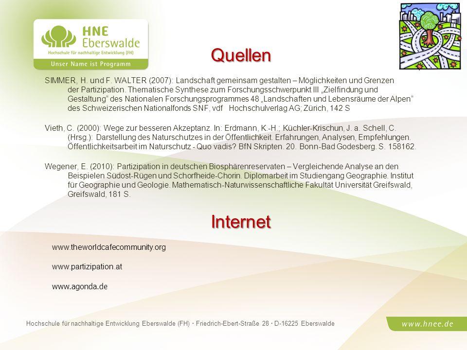 Projektteam Regionale Esskultur Brandenburg · HNE Eberswalde (FH) · Modul Projektplanung und -managementSeite 18 Hochschule für nachhaltige Entwicklun