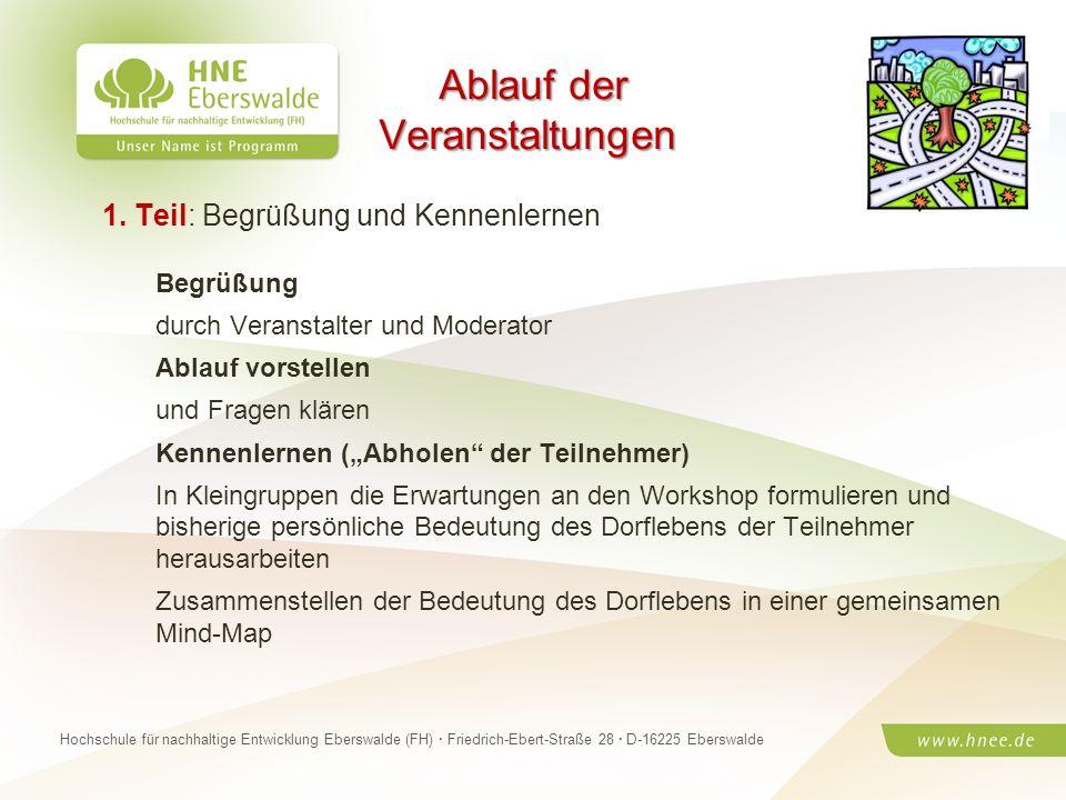 Projektteam Regionale Esskultur Brandenburg · HNE Eberswalde (FH) · Modul Projektplanung und -managementSeite 19 Hochschule für nachhaltige Entwicklun