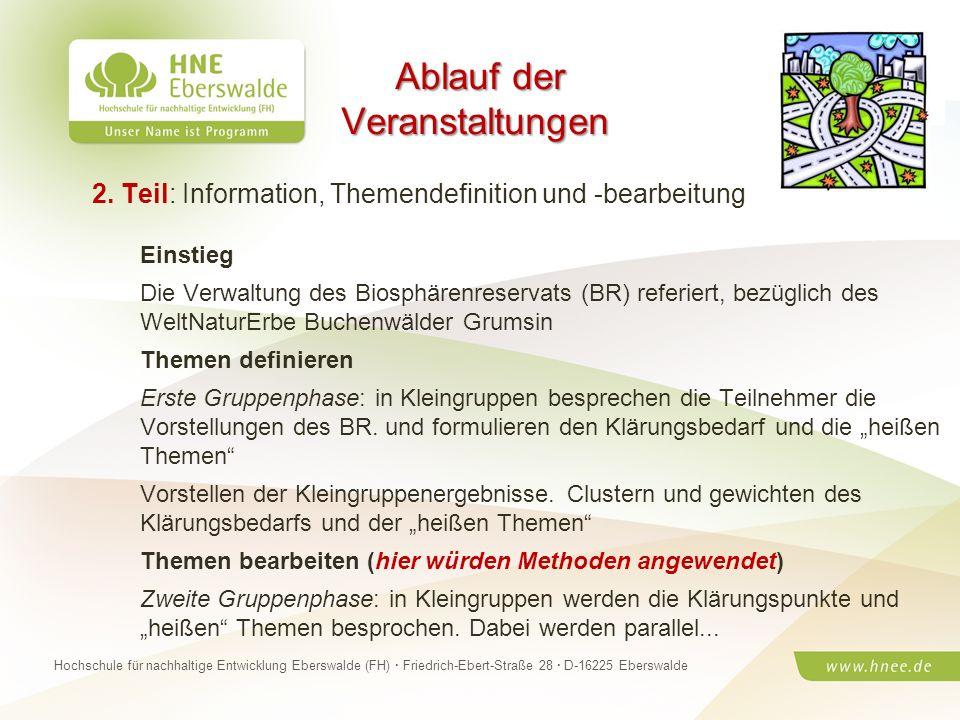 Projektteam Regionale Esskultur Brandenburg · HNE Eberswalde (FH) · Modul Projektplanung und -managementSeite 20 Hochschule für nachhaltige Entwicklun