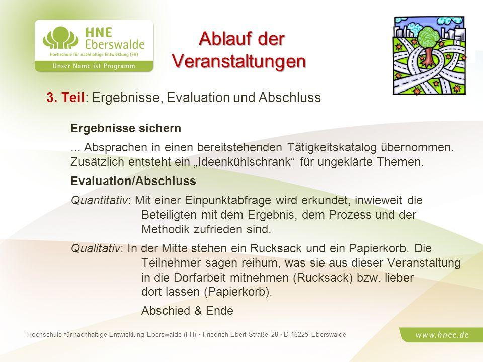 Projektteam Regionale Esskultur Brandenburg · HNE Eberswalde (FH) · Modul Projektplanung und -managementSeite 21 Hochschule für nachhaltige Entwicklun