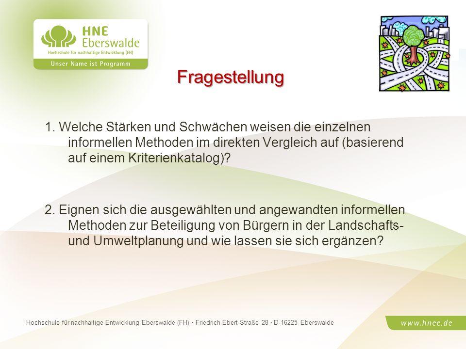 Projektteam Regionale Esskultur Brandenburg · HNE Eberswalde (FH) · Modul Projektplanung und -managementSeite 27 Hochschule für nachhaltige Entwicklun