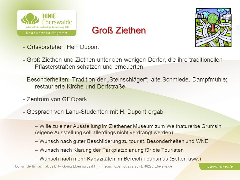 Projektteam Regionale Esskultur Brandenburg · HNE Eberswalde (FH) · Modul Projektplanung und -managementSeite 30 Hochschule für nachhaltige Entwicklun