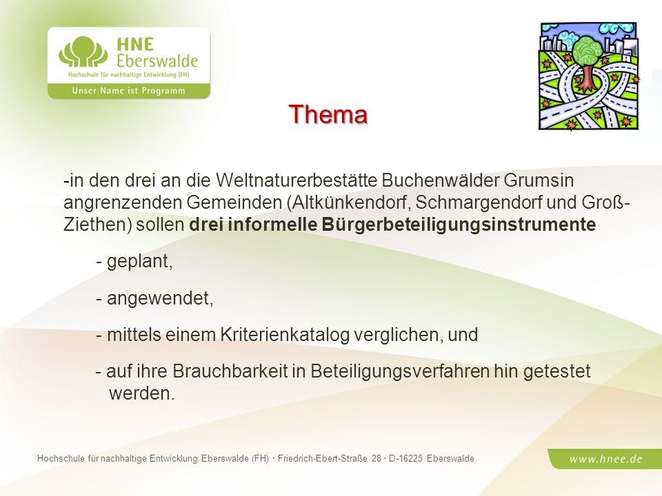 Projektteam Regionale Esskultur Brandenburg · HNE Eberswalde (FH) · Modul Projektplanung und -managementSeite 4 Hochschule für nachhaltige Entwicklung