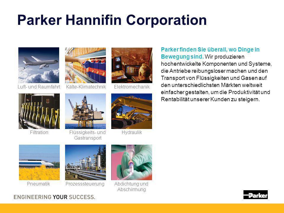 Parker Hannifin Corporation Parker finden Sie überall, wo Dinge in Bewegung sind. Wir produzieren hochentwickelte Komponenten und Systeme, die Antrieb