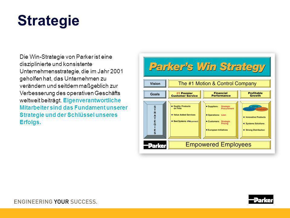 Strategie Die Win-Strategie von Parker ist eine disziplinierte und konsistente Unternehmensstrategie, die im Jahr 2001 geholfen hat, das Unternehmen z