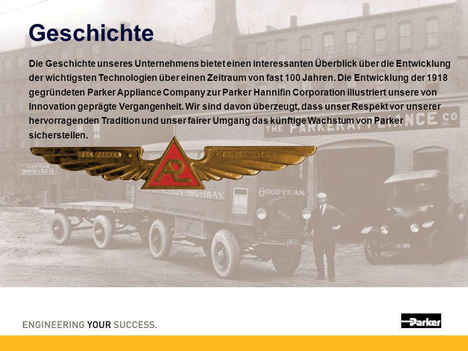 Geschichte Die Geschichte unseres Unternehmens bietet einen interessanten Überblick über die Entwicklung der wichtigsten Technologien über einen Zeitraum von fast 100 Jahren.