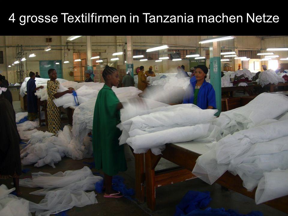 4 grosse Textilfirmen in Tanzania machen Netze