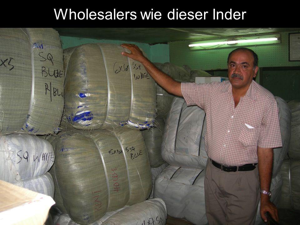 Wholesalers wie dieser Inder