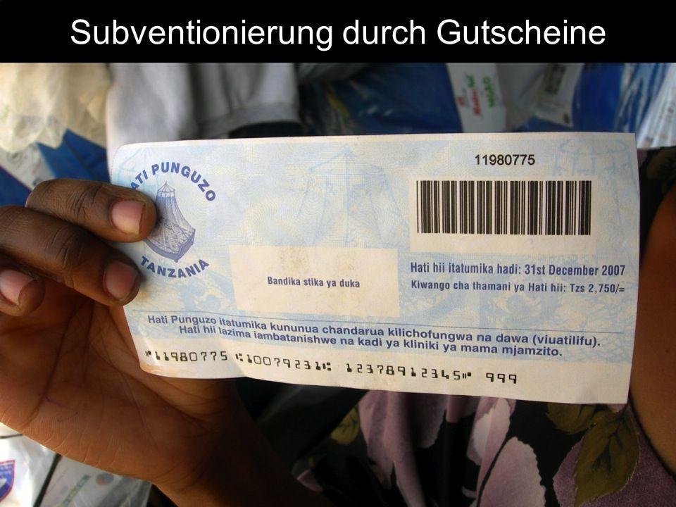 Subventionierung durch Gutscheine