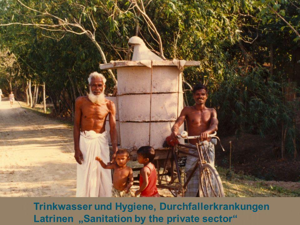 Trinkwasser und Hygiene, Durchfallerkrankungen Latrinen Sanitation by the private sector