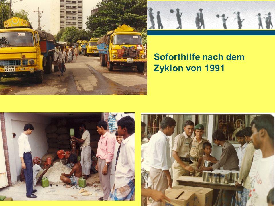 Soforthilfe nach dem Zyklon von 1991