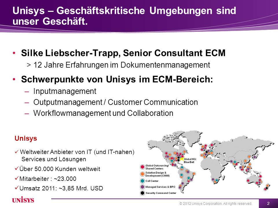 Unisys Secure Document Delivery Sicherer E-Mail-Versand als zeitgemäßer alternativer Versandweg
