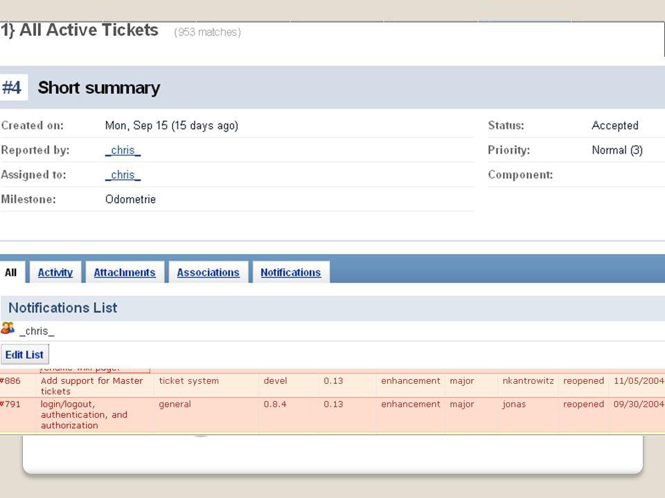 Ticketing Tickets Verteilen von Arbeitsaufträgen und Aufzeigen von Bugs Tickets werden Teammitgliedern zugeteilt, Statusänderungen kommuniziert und pr