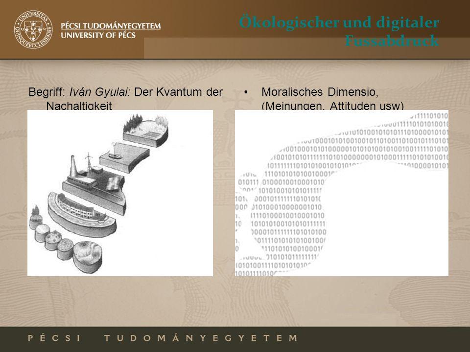 Ökologischer und digitaler Fussabdruck Begriff: Iván Gyulai: Der Kvantum der Nachaltigkeit Moralisches Dimensio, (Meinungen, Attituden usw)