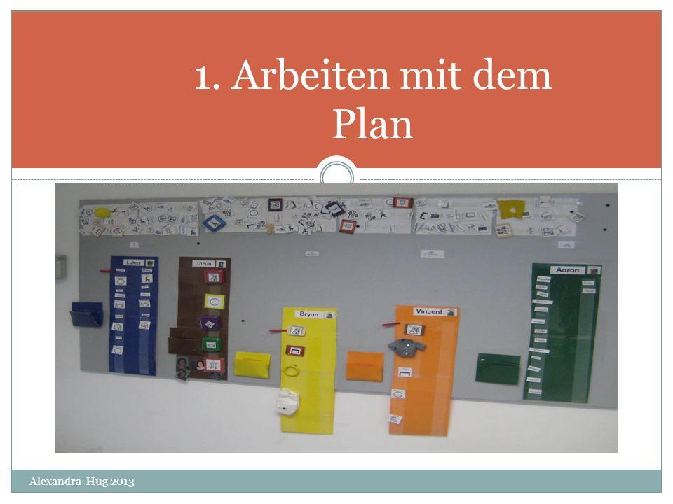 1. Arbeiten mit dem Plan Alexandra Hug 2013