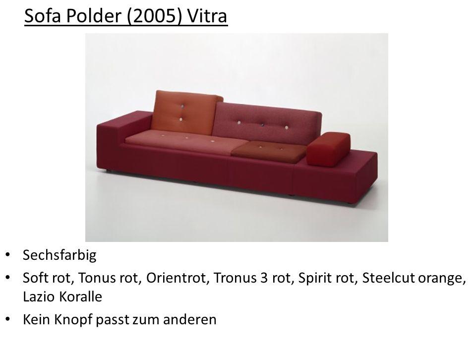 Sofa Polder (2005) Vitra Sechsfarbig Soft rot, Tonus rot, Orientrot, Tronus 3 rot, Spirit rot, Steelcut orange, Lazio Koralle Kein Knopf passt zum and