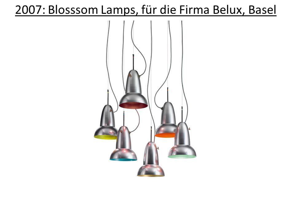 2007: Blosssom Lamps, für die Firma Belux, Basel