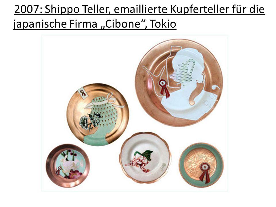 2007: Shippo Teller, emaillierte Kupferteller für die japanische Firma Cibone, Tokio