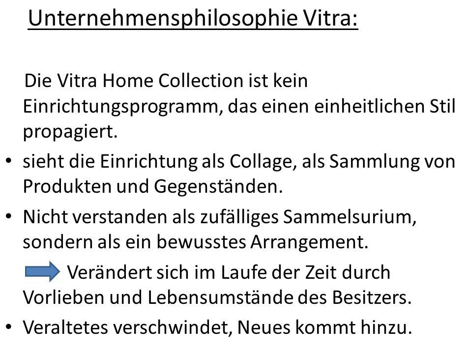Unternehmensphilosophie Vitra: Die Vitra Home Collection ist kein Einrichtungsprogramm, das einen einheitlichen Stil propagiert. sieht die Einrichtung