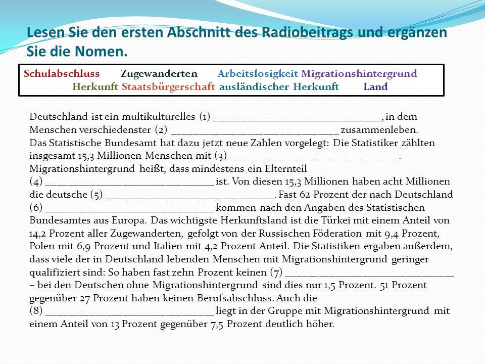 Information zu Ivan Novoselic: Vor 15 Jahren mit Familie aus Kroatien nach Deutschland gekommen Arbeitet in der Produktion eines großen Automobilherstellers Fühlt sich als Ausländer, Deutsche sehen ihn als Fremden Private Kontakte zu Kroaten, fast gar nicht zu Deutschen Auch die Kinder fühlen sich zerrissen Will nach der Rente nach Kroatien Vor 15 Jahren mit Familie aus Kroatien nach Deutschland gekommen Arbeitet in der Produktion eines großen Automobilherstellers Fühlt sich als Ausländer, Deutsche sehen ihn als Fremden Private Kontakte zu Kroaten, fast gar nicht zu Deutschen Auch die Kinder fühlen sich zerrissen Will nach der Rente nach Kroatien