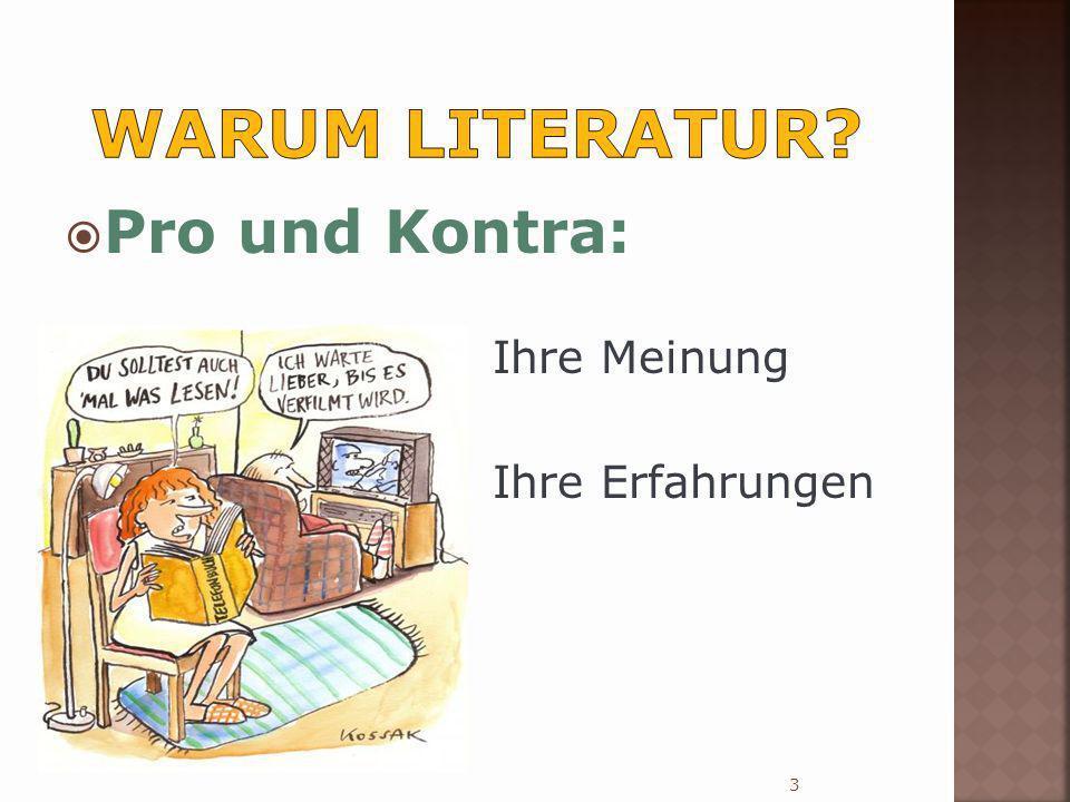 o Ist Literatur uns nicht mehr wert als ein paar Mehrwahlfragen.