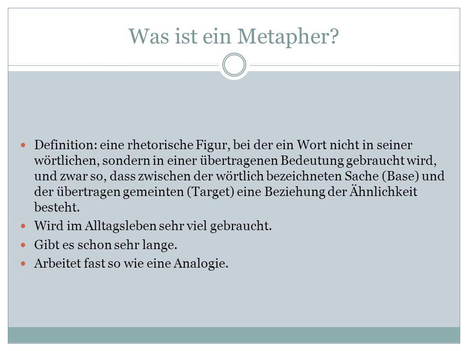 Was ist ein Metapher.