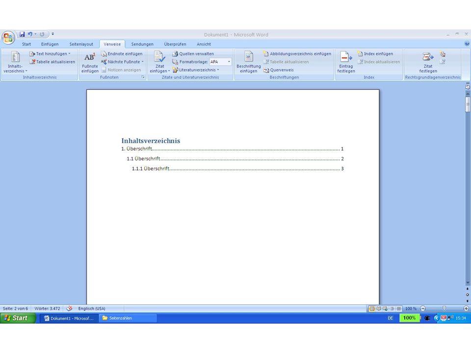 Weitere Tipps für das Arbeiten mit Word: Von Anfang an die gleiche Schrift und Schriftgröße verwenden.