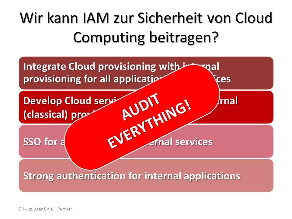 Wir kann IAM zur Sicherheit von Cloud Computing beitragen.