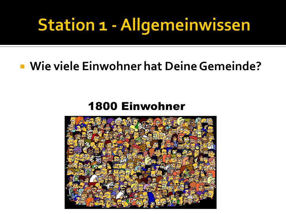 Wie groß ist Deine Gemeinde? Nenne die Funktionen der Kommandomitglieder: 20 km²