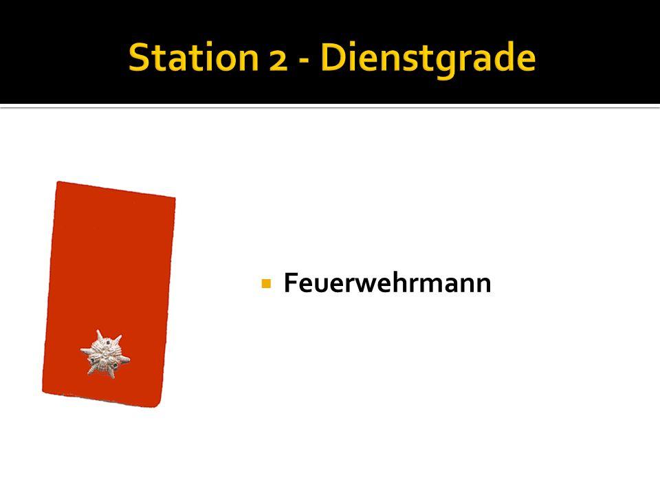 Probefeuerwehrmann Nenne die Funktionen der Kommandomitglieder: